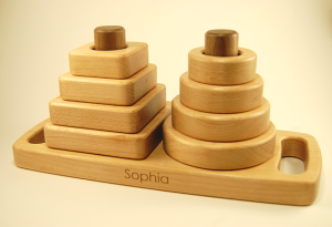 organic wooden stacker toy 44